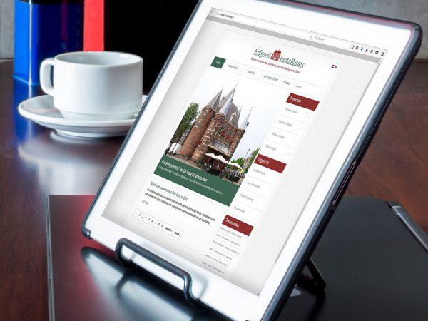 Website ontwerp Erfgoed Installaties