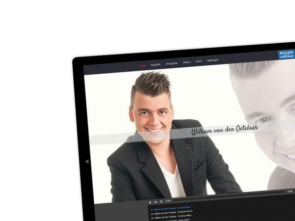 Website ontwikkeling William van den Oetelaar